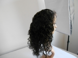 Brazilian Wavy Full Lace Wig Color #1B