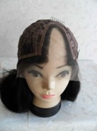U Part Straight Lace Front Wig Color 1B