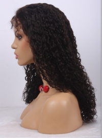 Mongolian Virgin Wavy Full Lace Wig