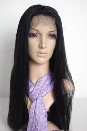 Silky Straight Color #1 Full Lace Wig