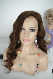 Brazilian Wavy Full Lace Wig Color #3