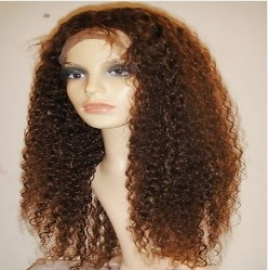 Water Wavy Brazilian Full Lace Wig Color #4