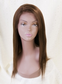 Color#4 Silky Straight Full Lace Wig