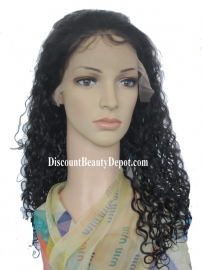 Water Wavy Color#1 Full Lace Wig