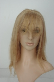 Lace Front Wig Color 27 Honey Blonde with Bang